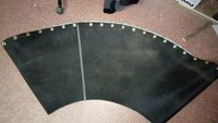 90 degree curve conveyor belt