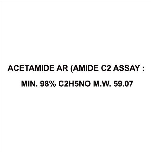 Acetamide Ar (Amide C2 Assay Min 98% C2H5No M W 59.07
