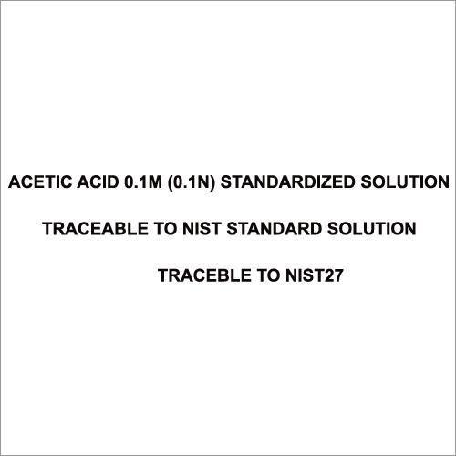 Acetic Acid 0.1M (0.1N) Standardized Solution Traceable To Nist Standard Solution Traceble to Nist27