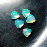 6mm Ethiopian Opal Trillion Cabochon Loose Gemstones