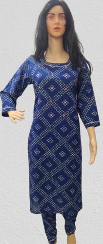 Cotton Printed Aari Work Kurtis Pant Set