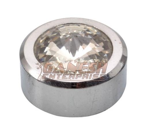 Brass Mirror Cap Crystal