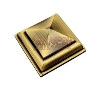 Brass Mirror Cap Royal Pyramid
