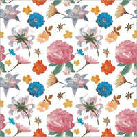 Synthetic Flower Print Colorful Fabrics