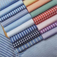 Washable Cotton Checked Shirting Fabrics