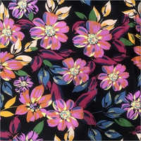 Flower Printed Rayon Knitted Fabrics
