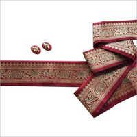 Printed Pattern Banarasi Border Fabrics