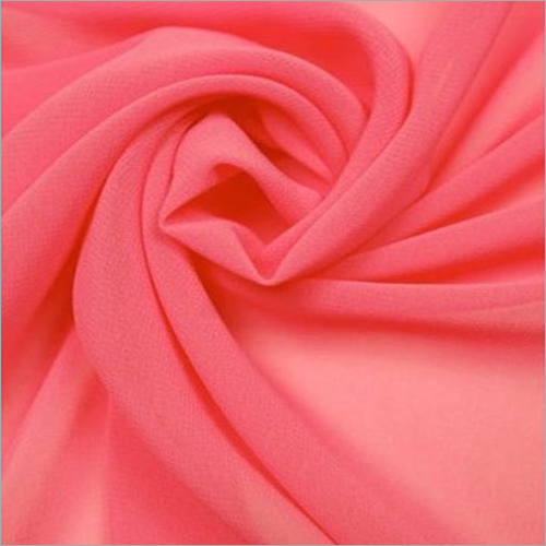 Plain Red Color Georgette Fabrics