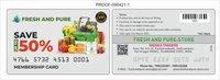 Plastic Bar Code Cards