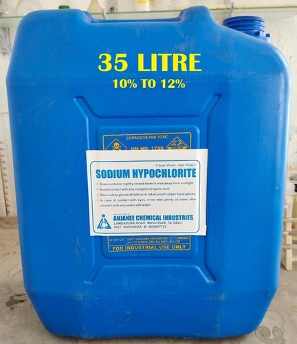 (10% To 12%) 35 Litre Sodium Hypochlorite Solution
