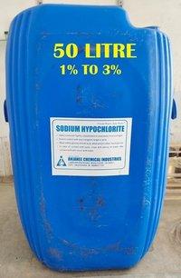 (1% To 3%) 50 Litre Sodium Hypochlorite Solution