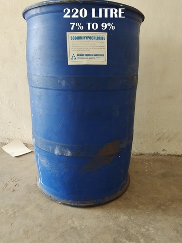 (7% To 9%) 220 Litre Sodium Hypochlorite Solution