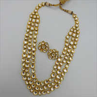 Layered Kundan Necklace with Earrings