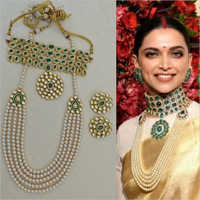 Deepika Style Bridal Necklace with Earrings