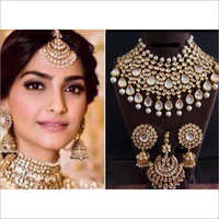 Sonam Style Bridal Necklace with Earrings and Maangtikka