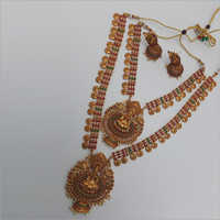 Double Temple Necklace with Earring