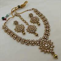 Mehendi Polish Reverse AD  Necklace set Earring and Maangtikka