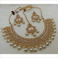 Reverse AD Necklace set with Earring and Maangtikka