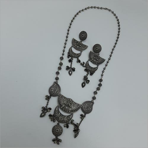 Long Chain Oxidize Necklace Set