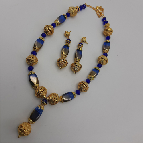 Shaded Glass Beads Galam Necklace