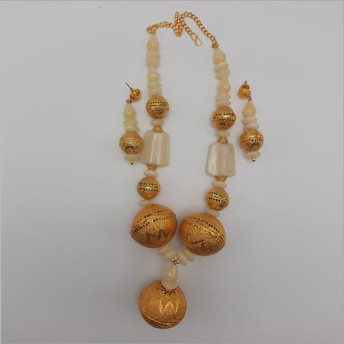 White Stone Galam Necklace