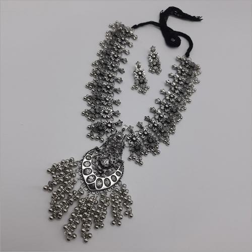 Long German Silver Necklace Ser