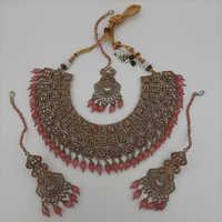 Pink Pakistani Necklace Set
