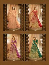 Alankar By Senhora Net With Silk Satin Lehenga Catalogue
