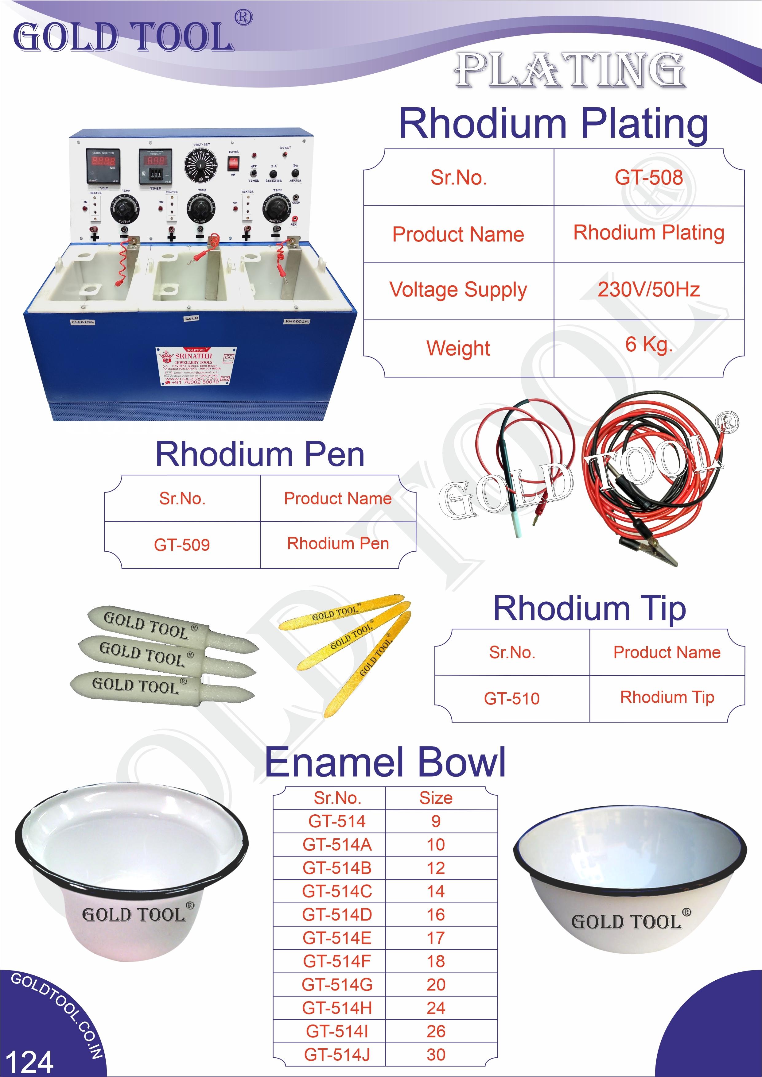 Jewellery Rhodium Plating Machine
