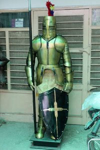 Medieval Wearable Suit Of Armor Crusader Knight Combat Full Body Armour