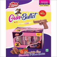 Gun & Bullet Chocolates
