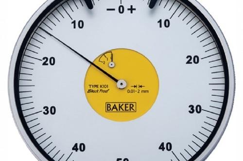 BAKER GAUGES K101 Plunger Type Dial Gauge  MODEL 105  K101