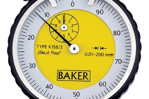 BAKER GAUGES K158/0 Dial Depth Gauge