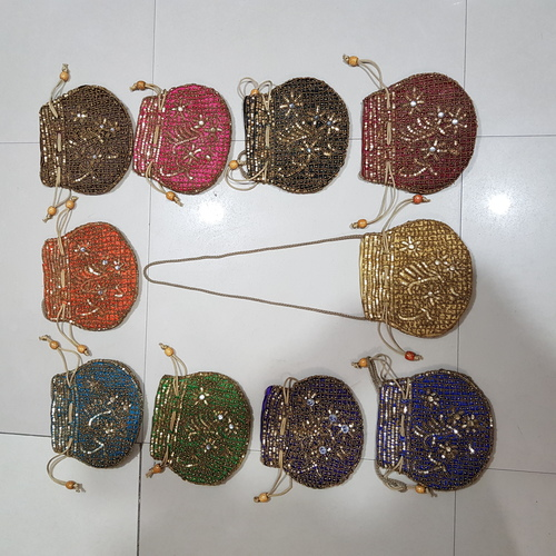 Beads Work Ladies Potli Bag