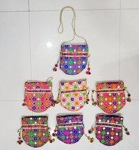 Kanch Embroidered Potli Bag