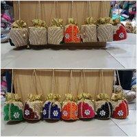 Women Purse Embroidery Potli Bag