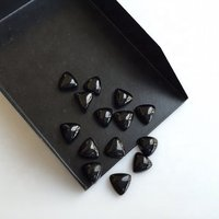 3mm Black Spinel Trillion Cabochon Loose Gemstones