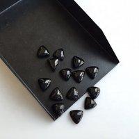 5mm Black Spinel Trillion Cabochon Loose Gemstones