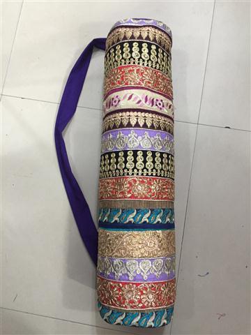 Printed Durable Cotton Yoga Mat Bag