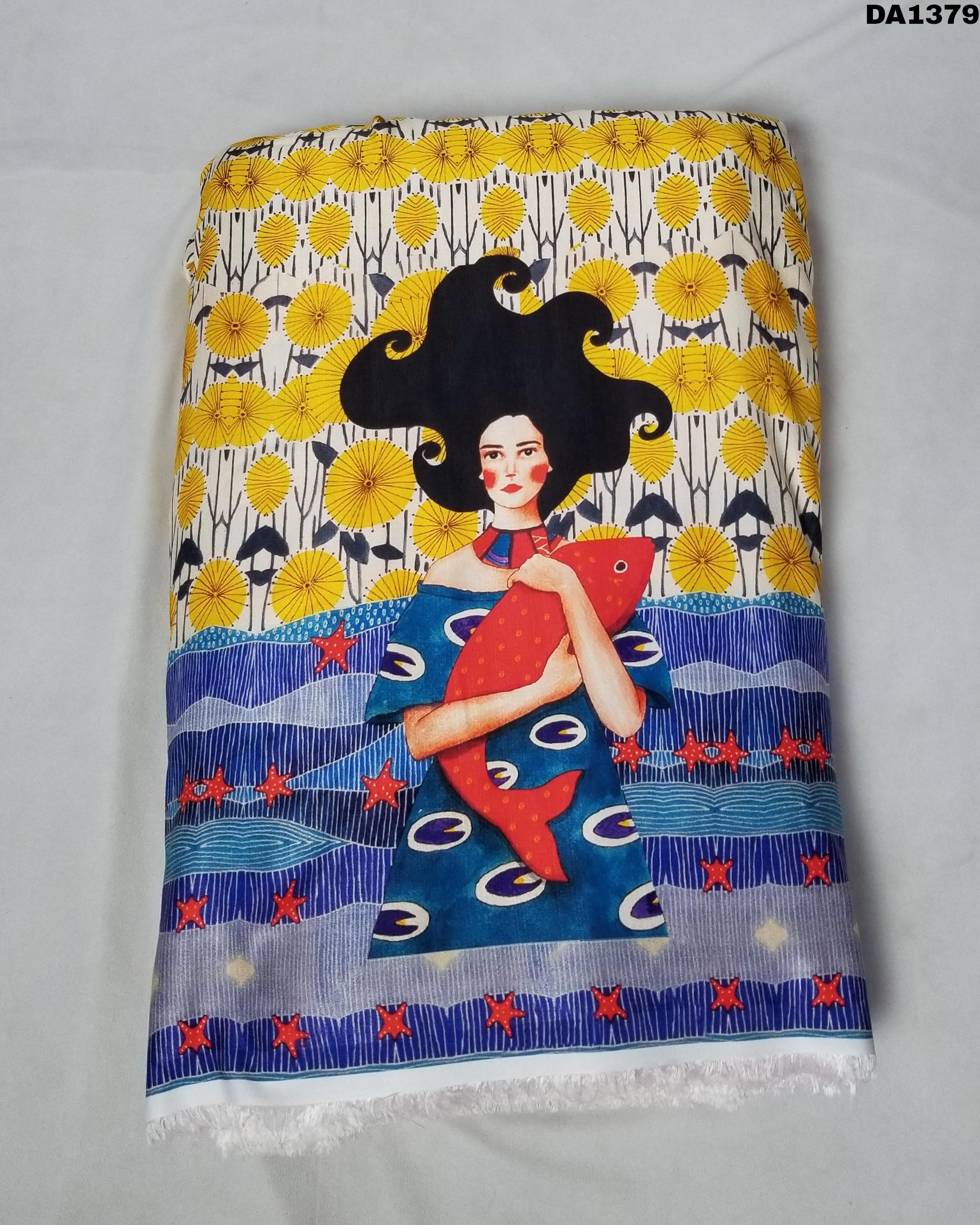 Khadi Silk Digital Print Fabric