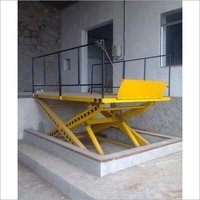 Pit mounted Scissor Lift Table with Flap & Railings