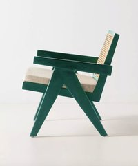 Green Cane Chair.
