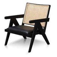 Black Cane Chair.