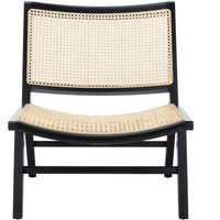 Curved Seat Cane Chair.