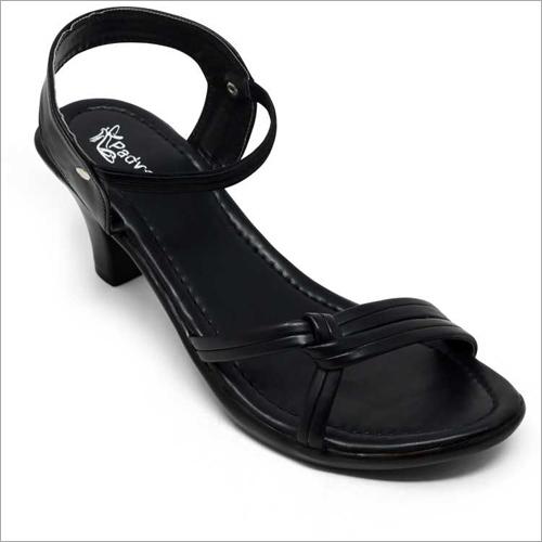 Ladies Black Heel Sandal