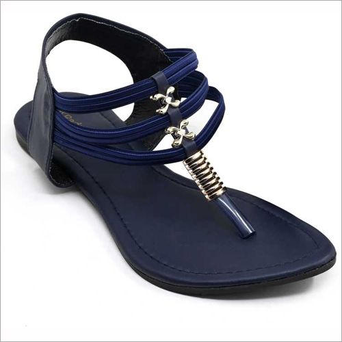 Ladies Navy Flat Sandals