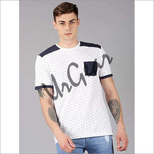 UrGear Printed Men Round Neck White T-Shirt