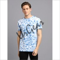 Men Blue Tie and Die T-Shirt