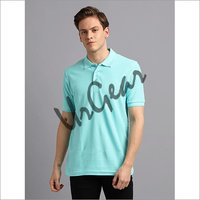 Men Mint Solid Polo T-Shirt
