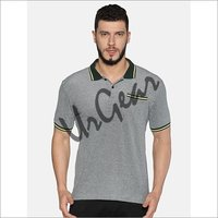 UrGear Solid Men Collared Neck Grey T-Shirt